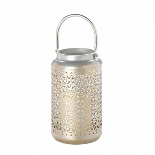 Iron Filigree LED Lantern