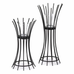 Iron Reeds Candle Stand Duo