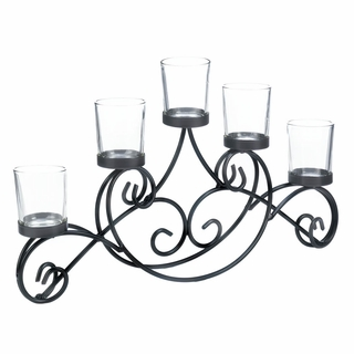 Iron Waves Candle Stand