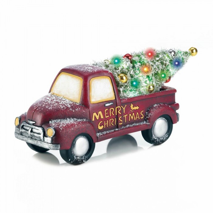 light up christmas truck decor