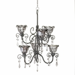 Midnight Blooms Tiered Chandelier