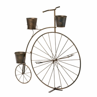 Old-Fashioned Bicycle Plant Stand