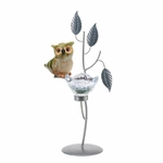 Owl Forest Candle Holder