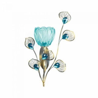 Peacock Blossom Single Sconce