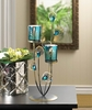 �Peacock Plume Candle Holder