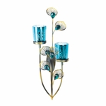 �Peacock Plume Wall Sconce