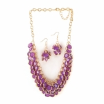 Radiant Orchid Circlet Jewelry Set