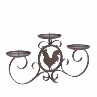 Rooster Silhouette Candleholder