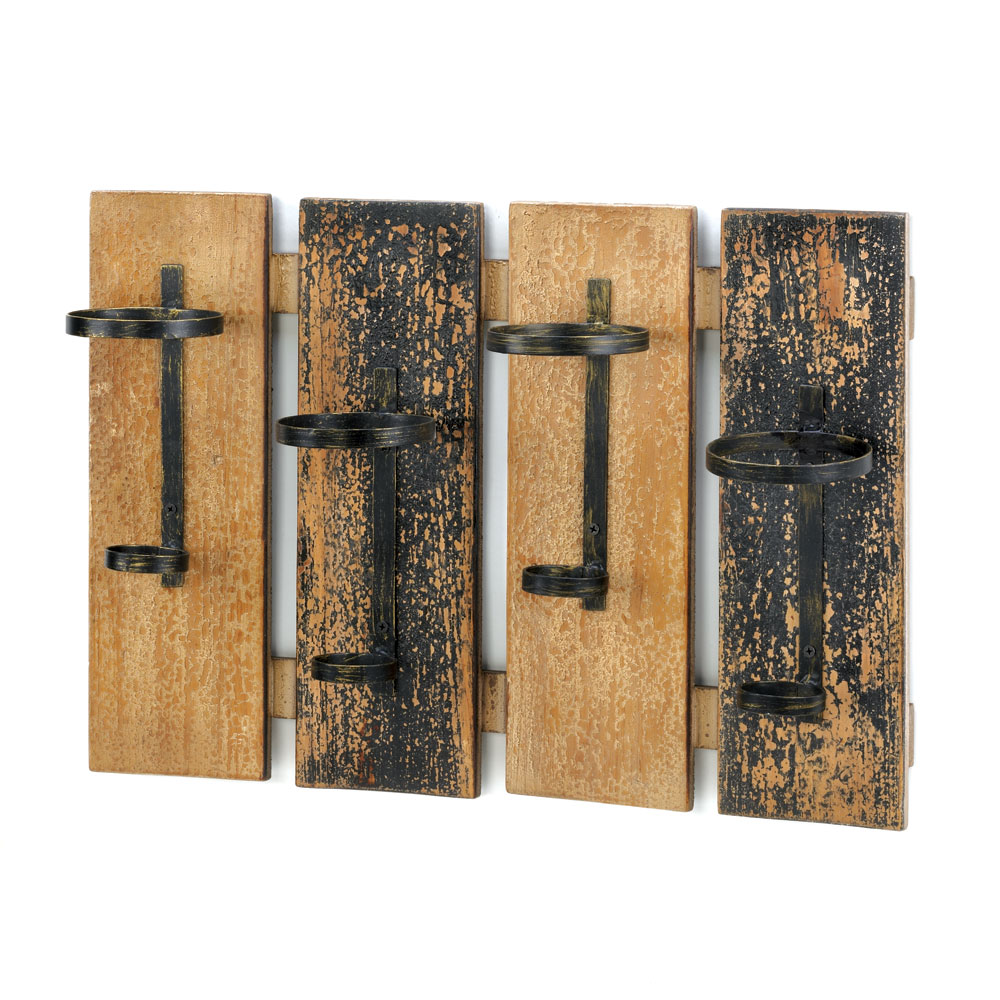 Rustic Wall Mounted Wine Rack Wholesale at Eastwind Wholesale Gift ...
