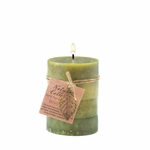 Serenity Leaf Pillar Candle