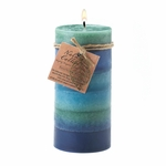 Soothing Leaf Tall Pillar Candle