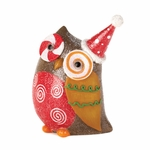 Sparkly Holiday Owl Decor