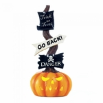 Spooky Halloween Pumpkin Light-Up Sign