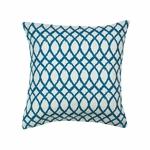 Teal Tide Throw Pillow