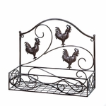 Three Roosters Wall Basket