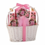 Vintage Damask Rose Spa Basket