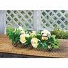 White Faux Floral Candle Holder