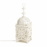 White Medallion Lantern Lamp
