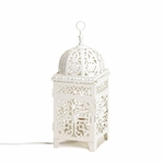 White Scrollwork Lamp