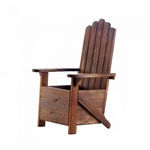 Wooden Adirondack Chair Planter