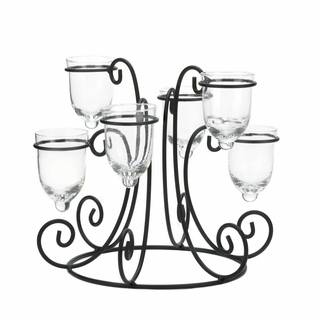 Wrought Iron Candle Centerpiece Display