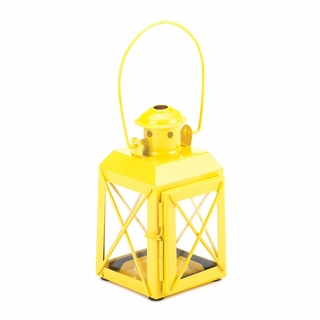Yellow Railway Candle Lantern Lamp