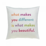 You Are Beautiful Decorative Pillow