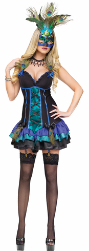ADULT MIDNIGHT PEACOCK COSTUME