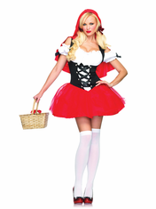 ADULT RACY RED RIDING HOOD SEXY COSTUME