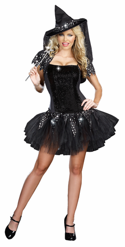 ADULT STARRY NIGHT WITCH COSTUME