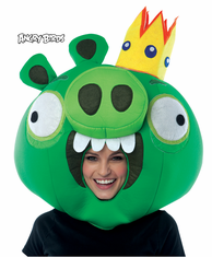 ANGRY BIRDS KING PIG GREEN MASK