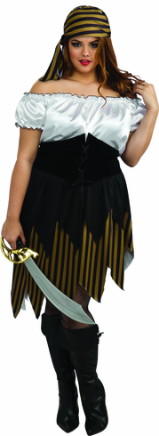 BUCCANEER GIRL ADULT PLUS SIZE COSTUME