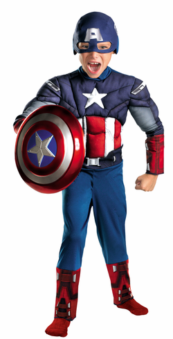 CAPTAIN AMERICA AVENGERS MUSCLE CHILD COSTUME