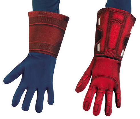 CAPTAIN AMERICA DELUXE GLOVES CHILD