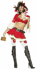 CAPTAIN BOOTY SEXY 5PC ADULT COSTUME