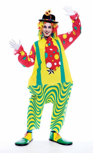 CLOWN UNISEX ONE SIZE ADULT COSTUME