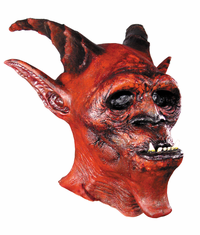 DEMON RED LATEX MASK