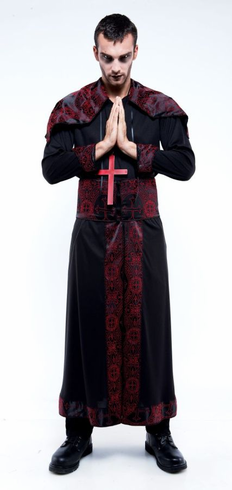 ENDLESS OPTIONS BLACK RED ROBE ADULT COSTUME