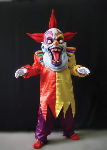 EVIL CLOWN RED YELLOW OVERSIZE ADULT COSTUME