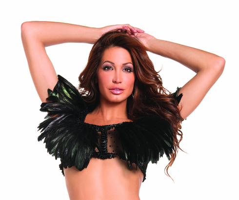 FEATHER TOP BLACK ADULT COSTUME