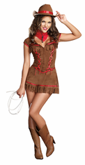 GIDDY UP ADULT COWGIRL COSTUME