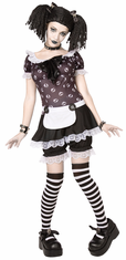 GOTHIC RAG DOLL WITH WIG ADULT COSTUME