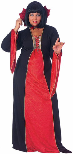 GOTHIC VAMPIRESS PLUS SIZE ADULT COSTUME