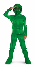 GREEN ARMY MAN DELUXE Child Costume