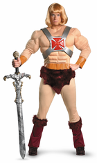 HE-MAN MUSCLE ADULT MASTERS OF THE UNIVERSE COSTUME