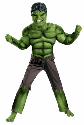 HULK AVENGERS CLASSIC MUSCLE CHILD COSTUME