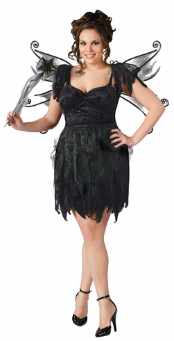 MIDNIGHT FAIRY PLUS SIZE ADULT COSTUME