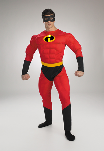 MR INCREDIBLE MUSCLE ADULT COSTUME