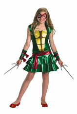 NINJA TURTLES RAPHAEL GIRL TWEEN COSTUME