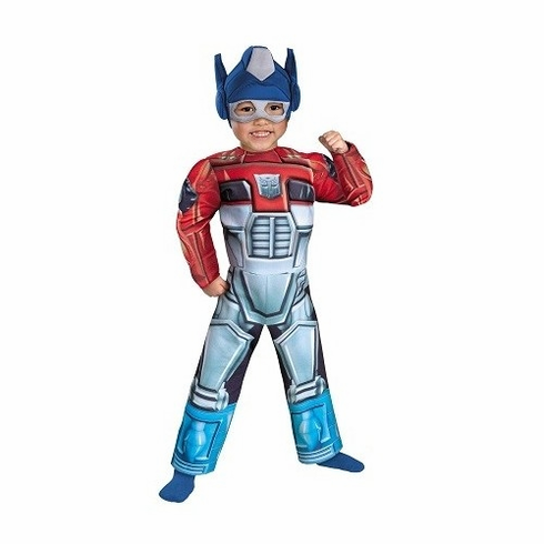 OPTIMUS PRIME TODDLER COSTUME MUSCLE CHILD RESCUE BOT TRANSFORMERS BOY AUTOBOTS